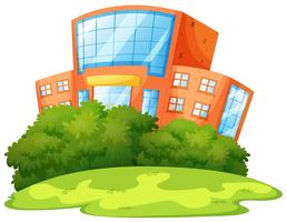 Prédio escolar isoalted com natureza