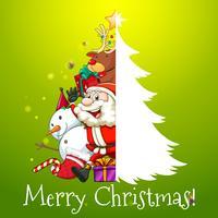Jul tema med Santa och snowman