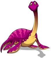 Pink dinosaur with long neck