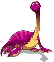 Dinossauro-de-rosa com pescoço comprido