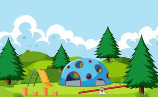 A simple playground scene