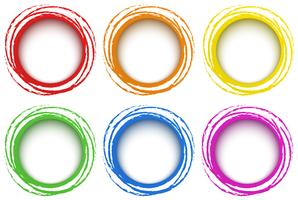Six rings template in different colors