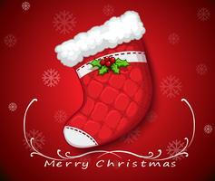 Un calcetín de navidad