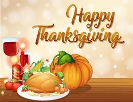 Feliz concepto de fiesta de acción de gracias