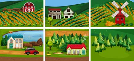 A Set of Rural Area vector