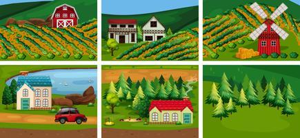 Eine Reihe von ländlichen Gebieten