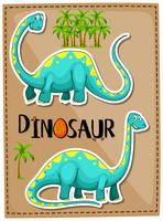 Blue brachiosaurus on poster