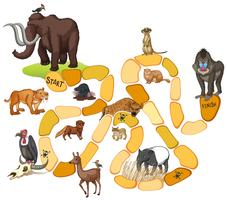Game template with wild animals