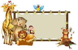 Rahmengestaltung mit wilden Tieren