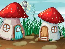 Enchanted mushroom house in nature