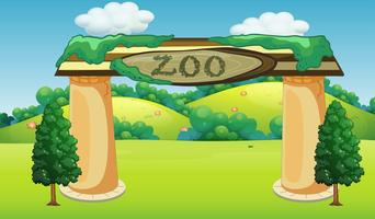 A nature zoo template vector