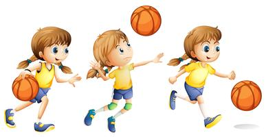 Girl playing different sports