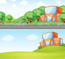Set of school background vector