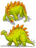 Green dinosaur with spikes tail vector