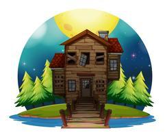 Altes Holzhaus auf der Insel
