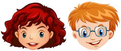 Cabeça humana para boyy e menina