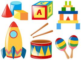 Set med olika leksaker