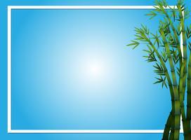 Plantilla de frontera con árboles de bambú
