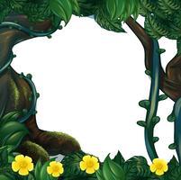Frame design avec des fleurs et des arbres