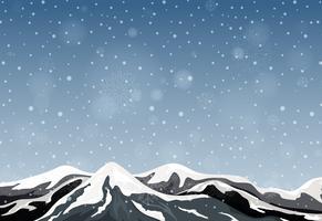 Buiten winter berglandschap