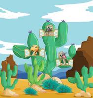 varios animales y cactus