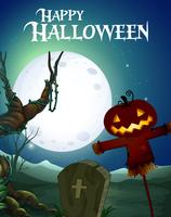 Spettrale modello di halloween felice