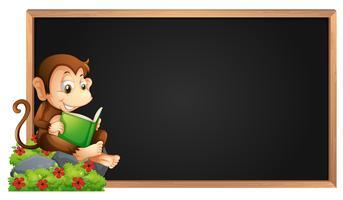 Kadersjabloon met aap leesboek