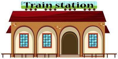 Train station on white background