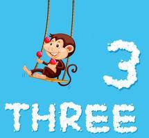 A monkey juggling three balls