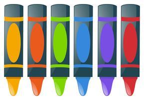 Crayons em muitas cores