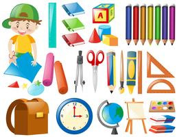 Different objects for school vector