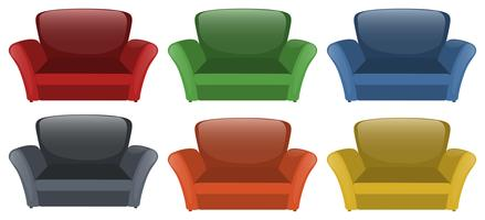Sofa in six different colors