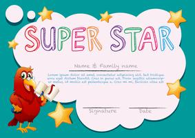 Certificate template for super star