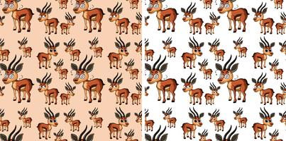 Seamless background with little deers