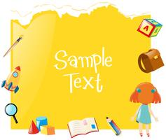 Papierschablone mit gelbem Hintergrund