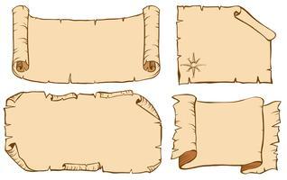 Vier Design für Papiervorlagen
