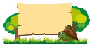 Brettschablone mit Schildkröten im Garten