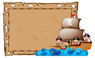 Border template with kids as pirates