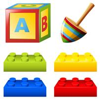 Alphabet block and colorful bricks vector