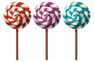 Three flavors of lollipops