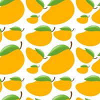 Seamless background with fresh mangoes