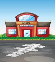 Edificio escolar sin alumnos.