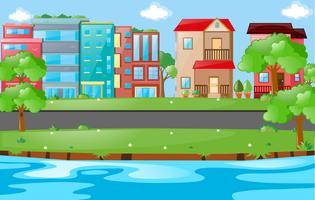 Stadtszene mit Gebäuden und Straße