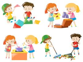 Children doing different activities