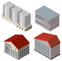 Olika konstruktioner av byggnader