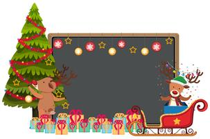 Blackboard with two reindeers and presets