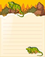 Paper template with two lizards