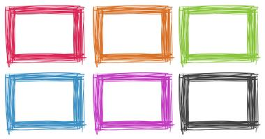 Frame design in different colors vector