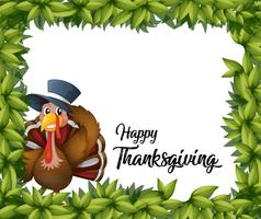 Turkey thanksgiving card template vector