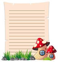 Modello di carta con funghi